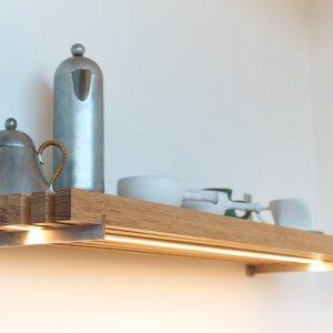 Artistic kitchen shelves