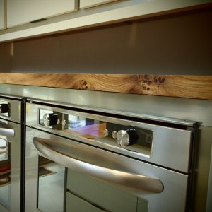 Earthy modern contemporary oak cabinet top