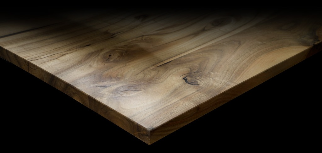 solid wood walnut worktop square edge