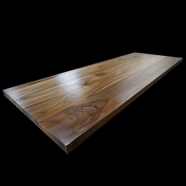 Beautiful hand-crafted bespoke wild walnut table top with epoxy resin infill