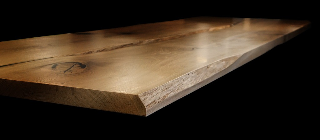 part square part live wood top edge earthy design