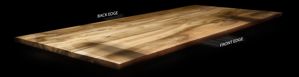 solid wood top edges live edge square edge waney edge