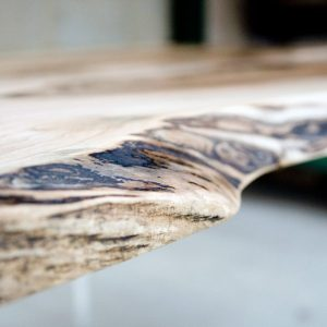 Unique Modern rustic live edge walnut slab table with resin, designer table Sussex, England