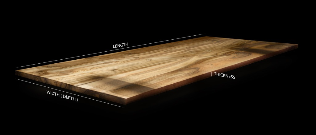 Beautiful square/ straight edged oak table infused with epoxy resin