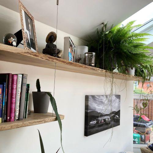 modern oak shelves by Earthy Timber