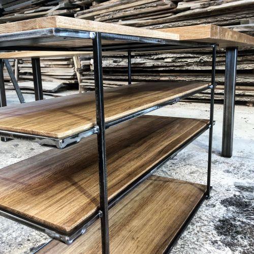 office shelves in solid oak by Earthy Timber