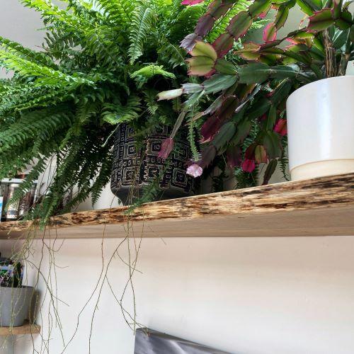 rustic edge oak shelves by Earthy Timber