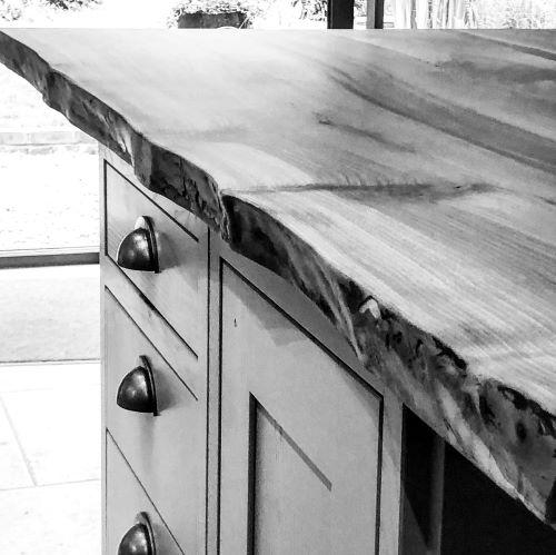 walnut kitchen island worktop by Earthy Timber