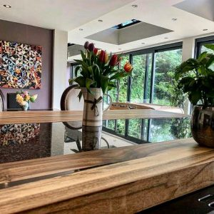 walnut worktop by Earthy Timber UK