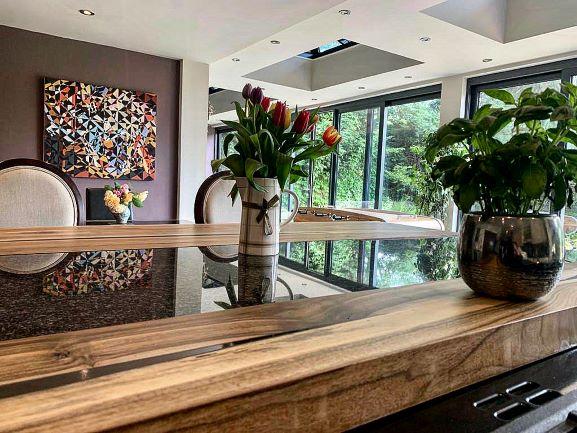 walnut worktop by Earthy Timber UK