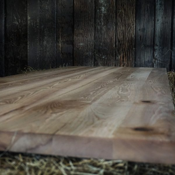 Beautiful bespoke rustic oak full stave wide stave slab table top
