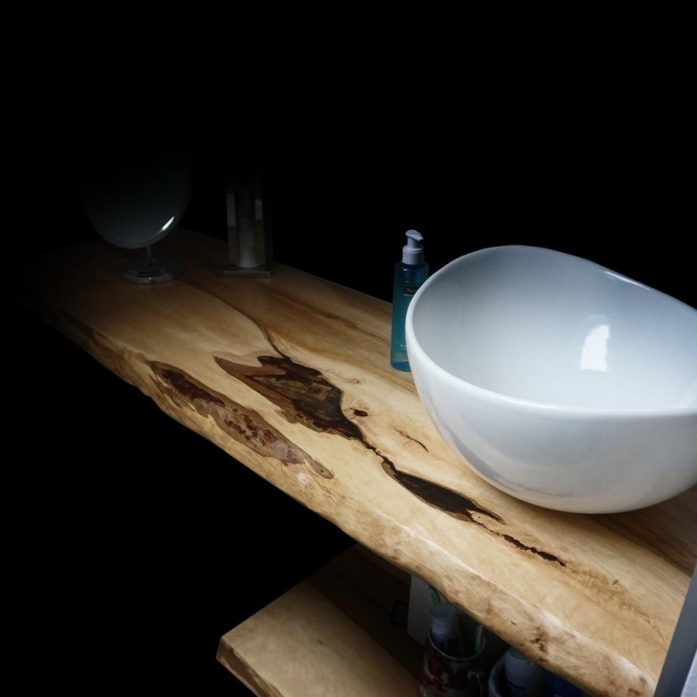 Beautiful Rustic Sycamore Bathroom Sink Top