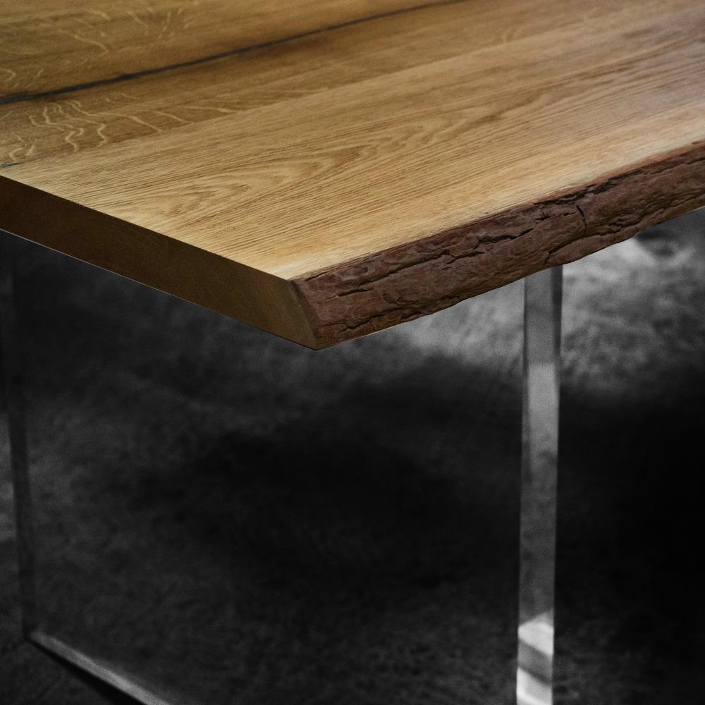 Earthy Oak & Resin Dining Table