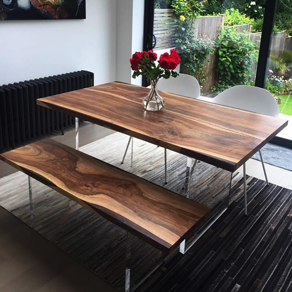 Terrific Earthy Walnut Resin Table Caraccident5 Cool Chair Designs And Ideas Caraccident5Info