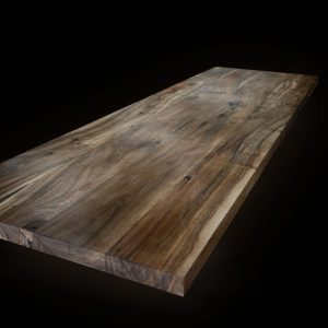 Beautiful distinctive wild walnut full stave wide stave planks with straight square edging