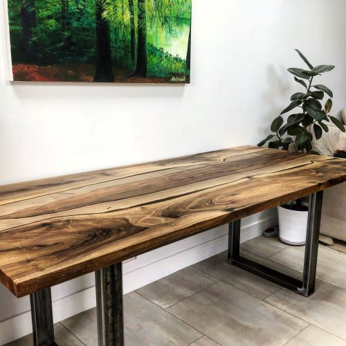 walnut kitchen table by Earthy Timber