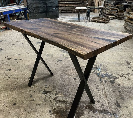 walnut resin high table by Earthy Timber