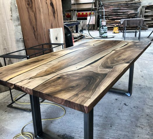 walnut river table by Earthy Timber