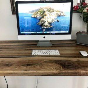 live edge walnut desk by Earthy Timber