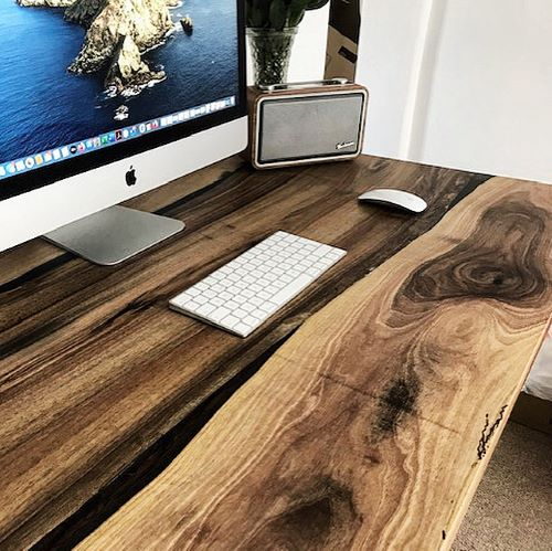 solid walnut desk by Earthy Timber