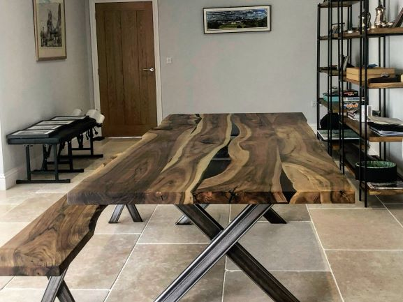 English walnut tables by Earthy Timber UK