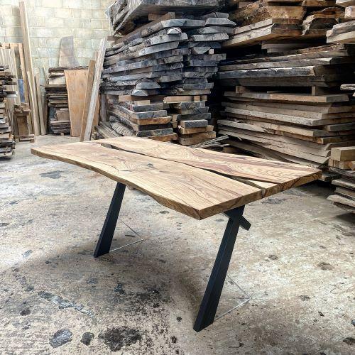 living edge oak river desk by Earthy Timber