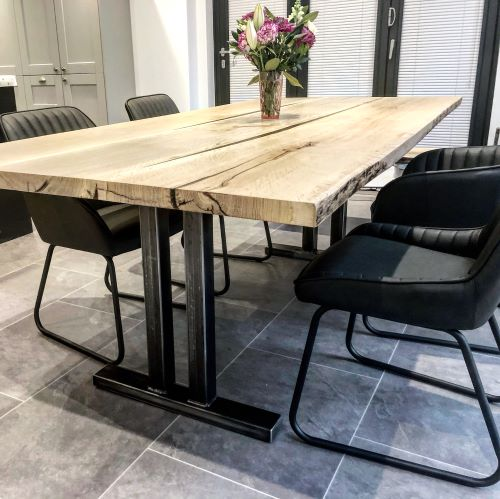 office wood resin table be Earthy Timber UK