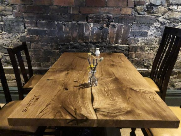 organic wood contemporary tables by Earthy Timber