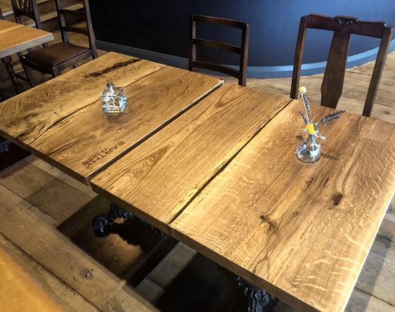 rustic oak tables by Earthy Timber