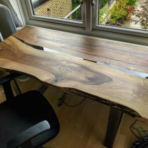 walnut river desk top by Earthy Timber