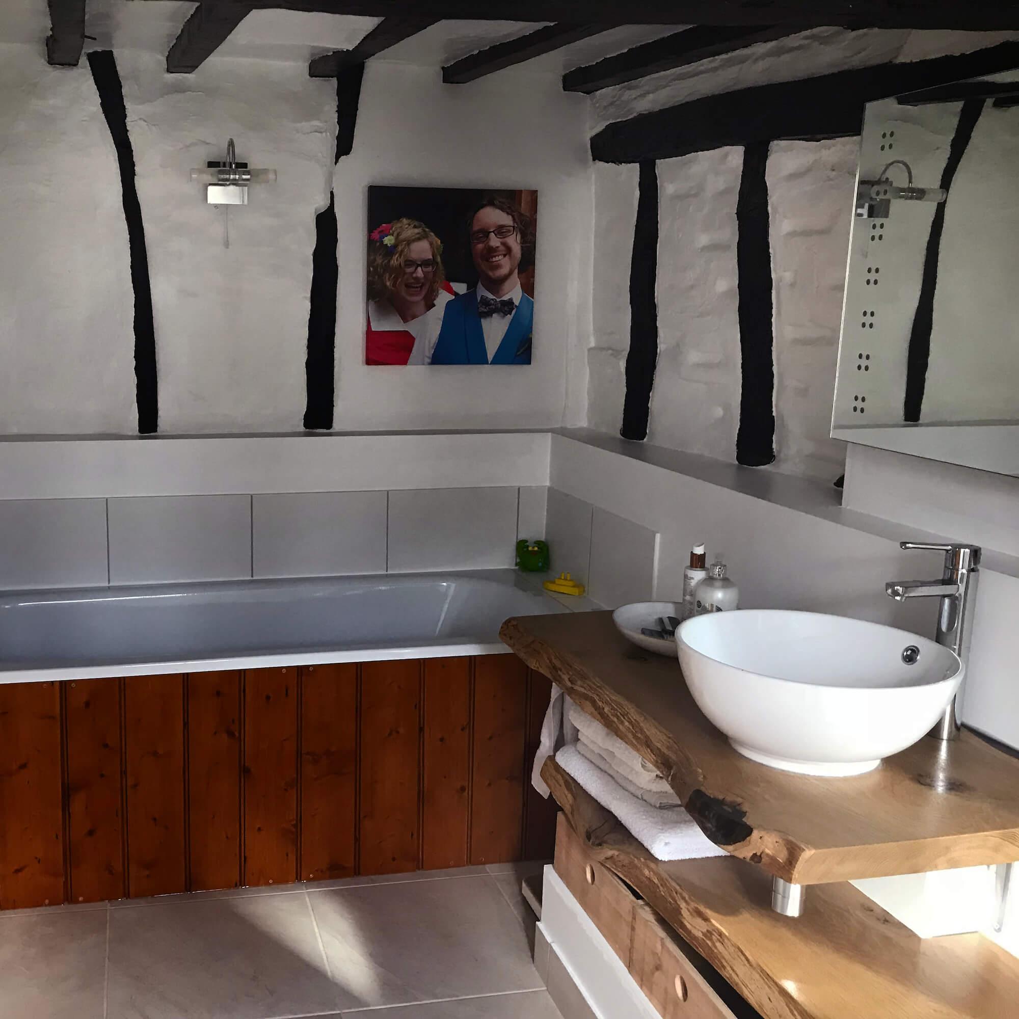 Bespoke Earthy Oak Slab Bathroom Tops Earthy Timber Sussex