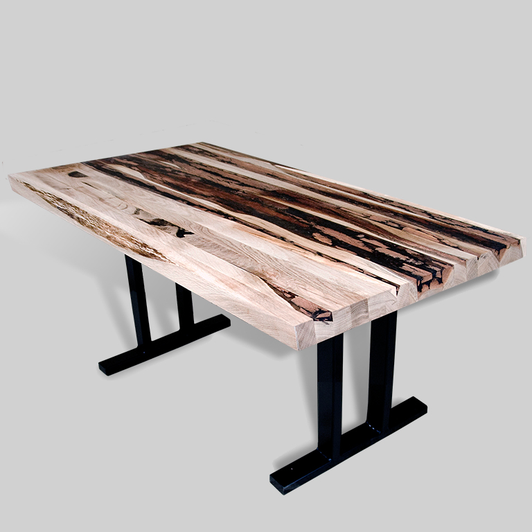 Contemporary Solid Wood Bench