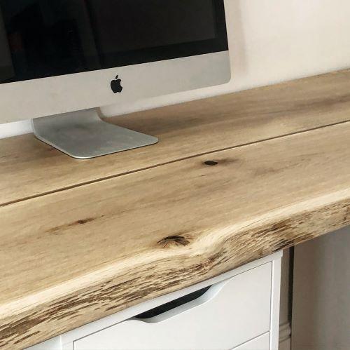 bespoke oak desk top by Earthy Timber