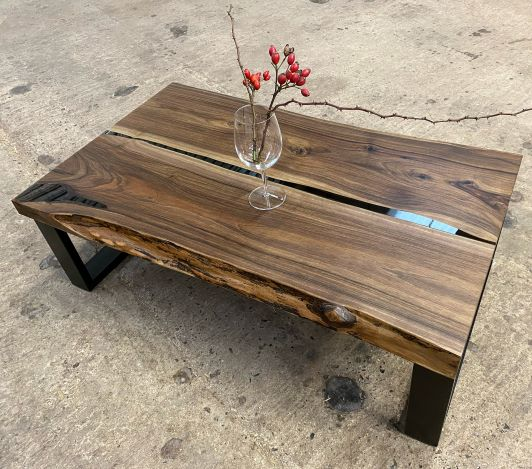 river walnut table by earthy timber