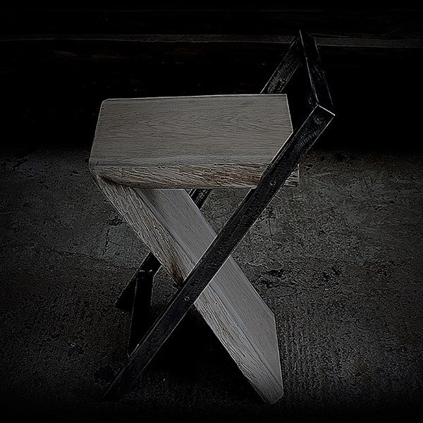 Bespoke Industrial Styled High Stool