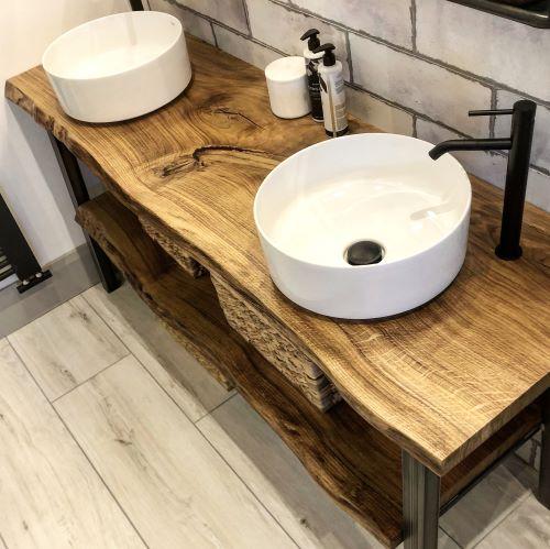 EARTHY TIMBER beautiful wood sink top live edge