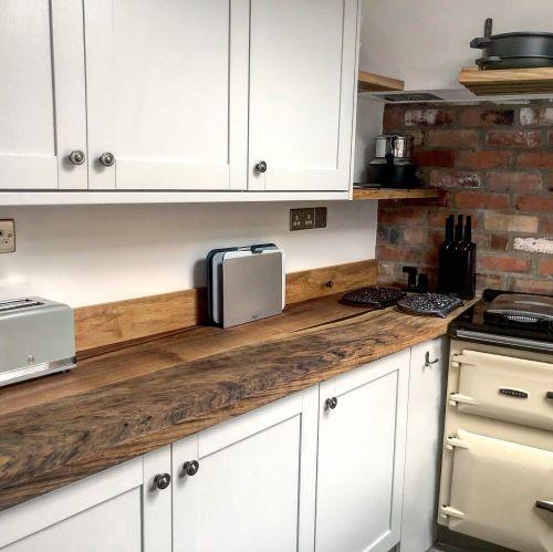 beautiful wood worktops by Earthy Timber UK
