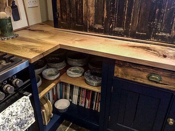 bespoke oak worktops by Earthy Timber