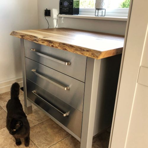 live edge wood bench top by Earthy Timber