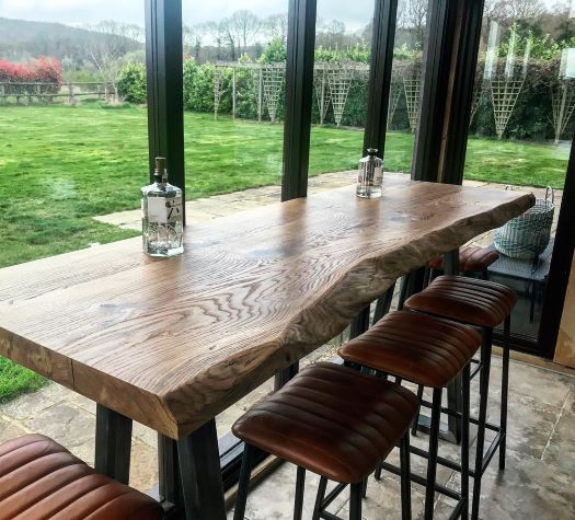 beautiful bar height table by Earthy Timber