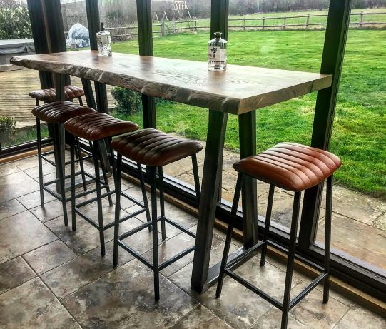 live edge oak bar table by Earthy Timber