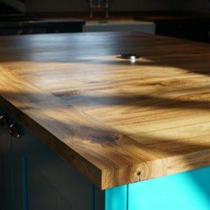 Custom wooden kitchen island