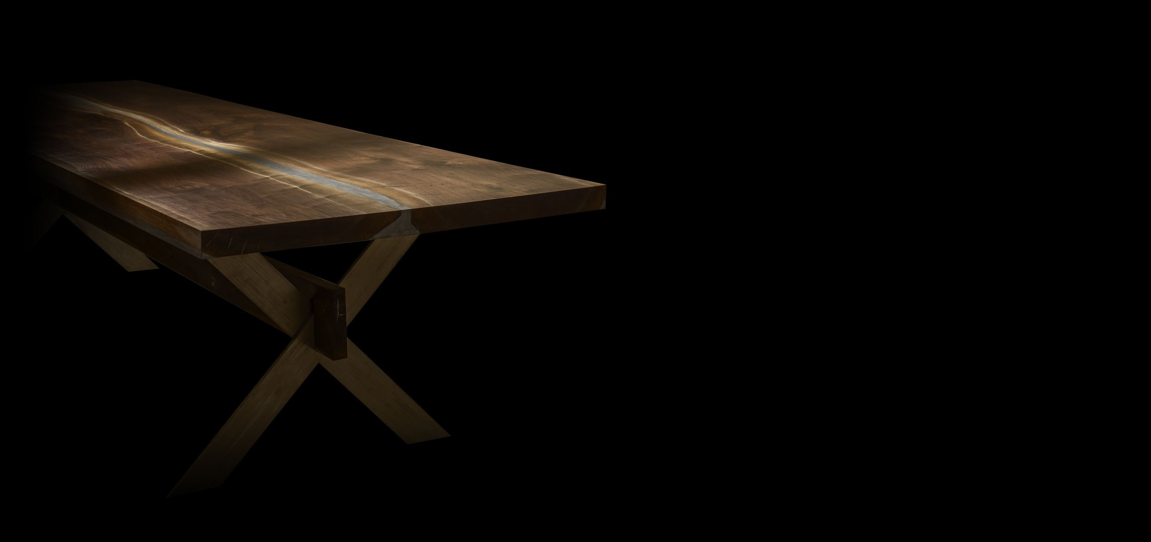 Earthy Timber boardroom conference walnut table