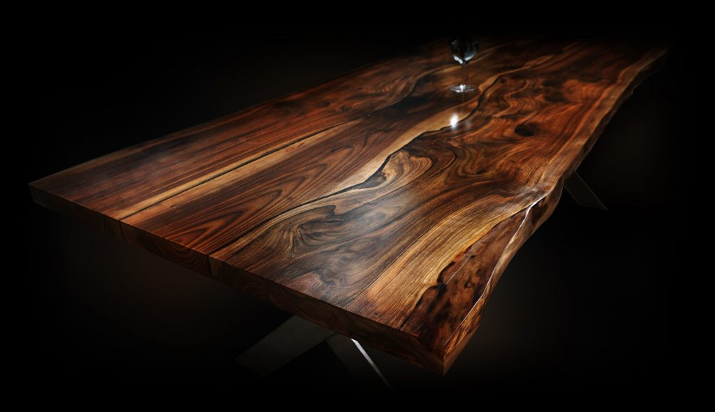 Earthy Timber luxury wood resin table conference table
