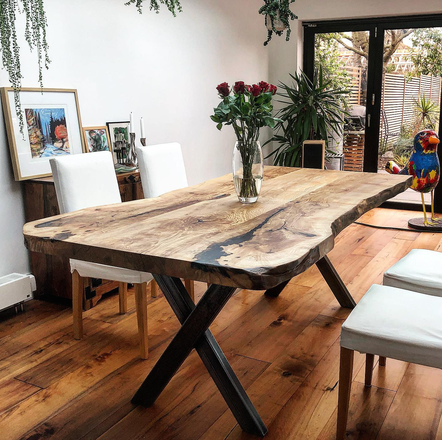 Olive Ash Dining Table by Earthy Timber