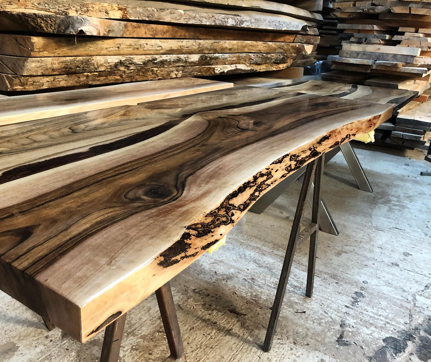 Wild Walnut Feature Worktop by Earthy Timber