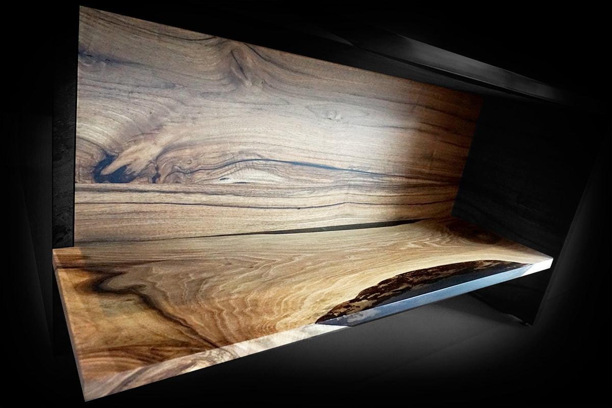 designer english walnut shelf unit