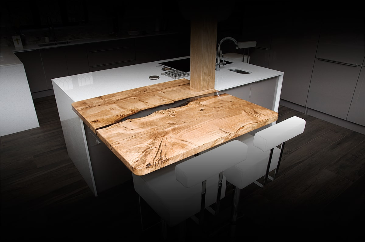 contemporary wood kitchen island bar top
