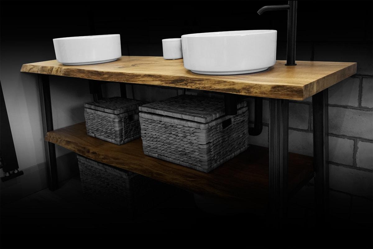 natural oak bathroom sink top